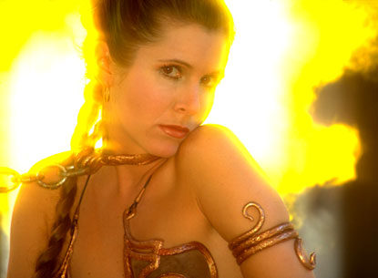 Leia-slave girl, Return of the Jedi 1983